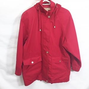 London Fog red spring jacket vintage small size s